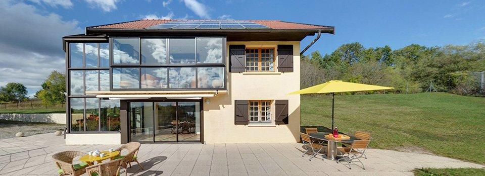 Visite virtuelle à 360° de la villa Les Lacustres à Marigny (Jura)