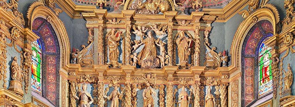 Le retable de l'église Saint-Jean-Baptiste de Saint-Jean-de-Luz