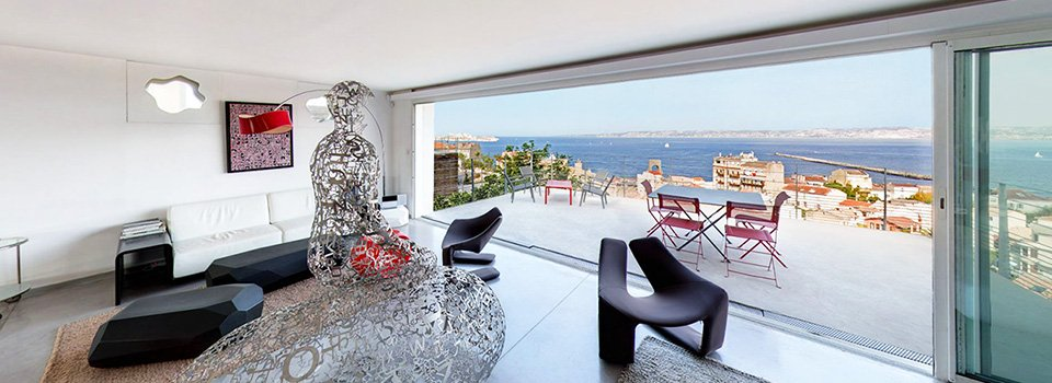 Visite virtuelle 360° de la Villa CliffBird à Marseille